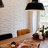 Pannello a parete 3D Valeria | Rivestimento Murale WallArt | 12 Pannelli 3D a Parete per la Decorazione della Parete | 3 m² Parete 3D - Pannelli Decorativi Interni da Muro 3D | Rivestimento Pareti 3D