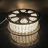 kefflum LED Lichterschlauch Lichtschlauch Lichterkette Licht Leiste 36LEDs/M Schlauch für Innen und Außen IP65 30M Warmweiß