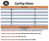 ZOL Trail MTB Mountain Bike e Indoor Scarpe da Ciclismo, Black With Silver
