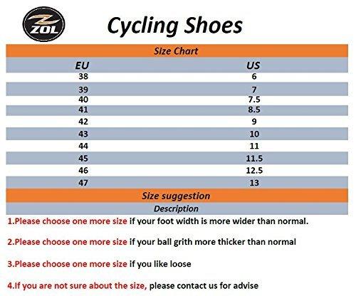 ZOL Trail Scarpe per ciclismo, per mountain bike e attività ciclistica in interni, Black with Silver, 39 CM (EU)/ 7 (US)
