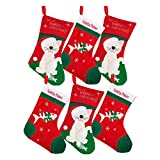 by Robelli Pack of 6 Festive Xmas Stockings for Pet Cats (Purrfect Christmas & Santa Paws)