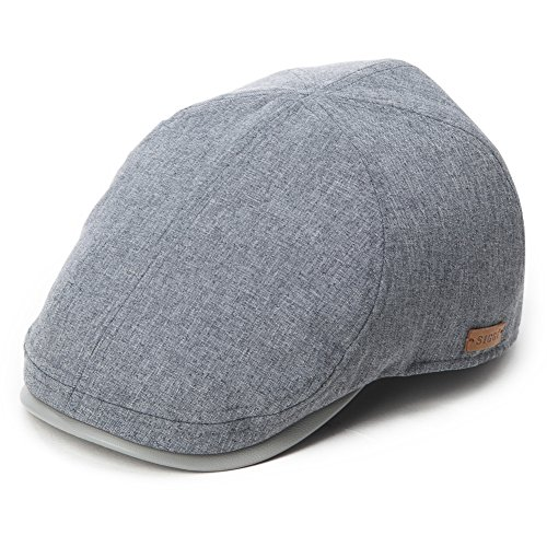 Siggi Mens Flat Duck Bill Ivy Newsboy Hat Irish Gatsby Driving Cap Spring Summer Grey