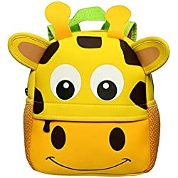 Sumnacon Cartable Scolaire maternelle, Sac à dos mignon, Cartable Girafe Figure Sac en Néoprène pour Bébé Enfant Primaire Maternelle --- 25cm*28cm*9cm (1-7 ans)