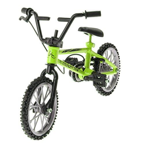 D DOLITY Kreatives Mini Finger Fahrrad Bicycle Modell aus Legierung & Kunststoff Spielzeug für Kinder und Junge - Grün