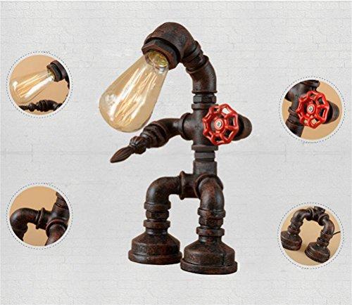 Kostüm Roboter Retro (GJY LED BELEUCHTUNGWasser-Rohr Licht Roboter Dekoration Kreative Schreibtisch Lampe)