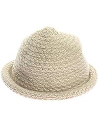 COMVIP Mujeres El invierno caliente de punto de ganchillo del sombrero de  ala del cubo 327a8fdb11f