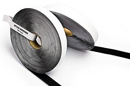 Purovi nastro adesivo a strappo autoadesivo nero | 10m lunghezza x 20 mm larghezza | resistente e versatile