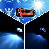 igadgitz Xtra 5m Umweltfreundlich Wasserfest Solar & Dynamo Kurbel Aufladbar LED Taschenlampe Handlampe mit 5 Jahren Garantie - 4