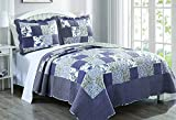 Best DaDa Bedding Collection Quilts - Dada Bedding Reversible Patchwork Plaid Floral Blueberry Patch Review