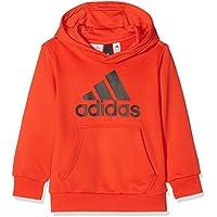 adidas Yb Logo Hood Sudadera, Niños Negro (Rojo), 140 (9/10 años)