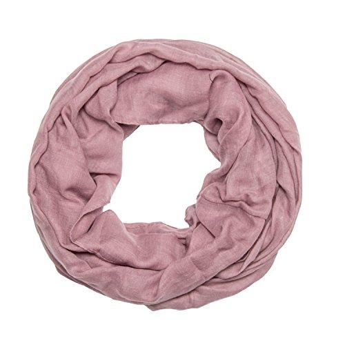 ManuMar Loop-Schal einfarbig | Hals-Tuch in Uni-Farben | einfarbig Lila als perfektes Sommer-Accessoire | klassischer Damen-Schal - Das ideale Geschenk für Frauen