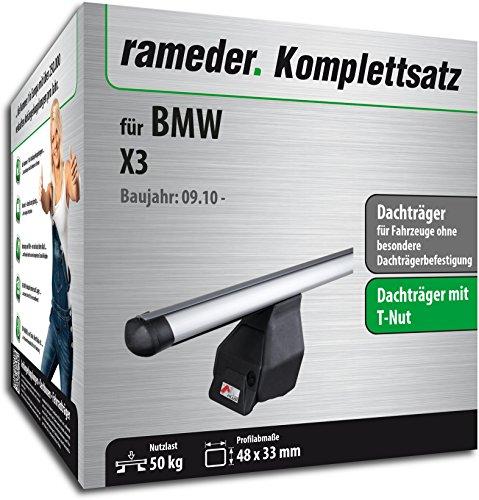 Rameder Komplettsatz, Dachträger Tema für BMW X3 (118791-08763-2)