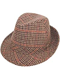 UNISEX Adult Tweed Country Trilby Hat