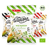 Wildcorn - salziges Popcorn - 4 Sorten Mix (4x50g) | gesunder Snack | leckere Alternative zu Chips | Superfood für Büro, Unterwegs, Kino | vegan | 100% Bio | ohne Zuckerzusatz | glutenfrei | Healthy Food | Wildpack