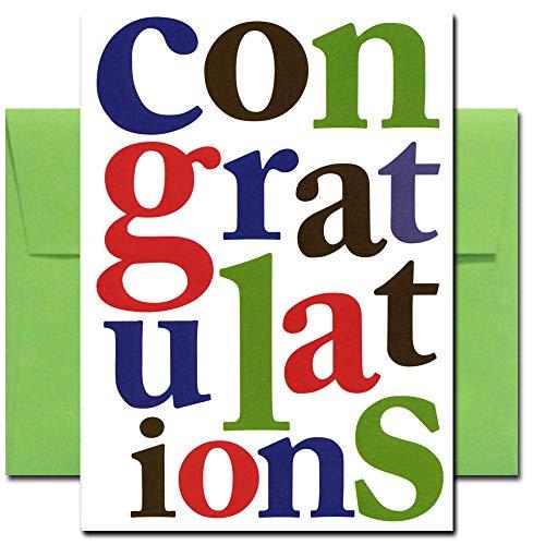 Congratulations Cards Glückwunschkarten (englischsprachig), 10 Stück