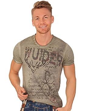 Trachten Herren Shirt - BUFFALO - moos