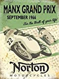 Enseigne Métal Norton Manx Grand Prix 1966 (og 2015)