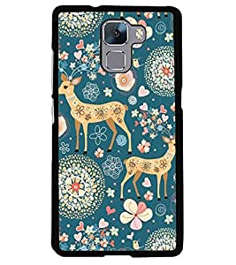 printtech Animal Pattern Back Case Cover for Huawei Honor 7