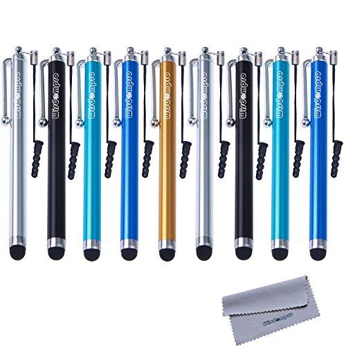 Wisdompro, confezione da 9 pennini colorati da 11,4cm, con cordino; pennini capacitivi per iPad, tablet, iPhone, Samsung Galaxy Note/Tab touch screen, colori assortiti