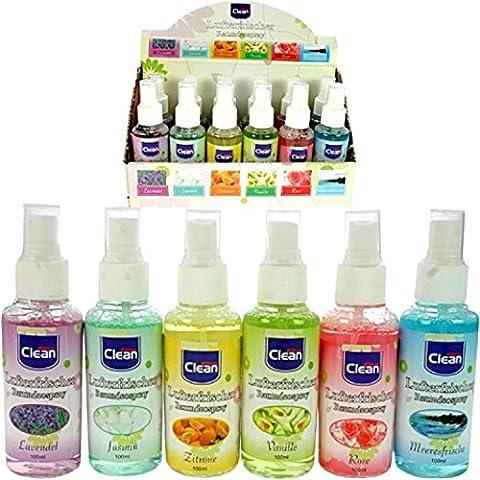 Lot de 3 - Désodorisant spray 100ml `Clean` fragrances assorties - Qualité COOLMINIPRIX®