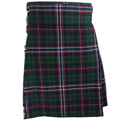 """Tartanista - Herren Kilts mit 61 cm (24"""") Länge - hochwertig - Scottish National - Taille (Nabelhöhe): 91,4cm (36"""")/Länge: 61cm (24"""")"""