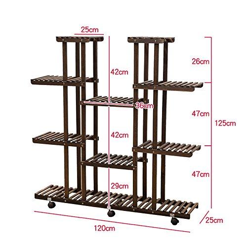Brisk-Racks de fleurs- Solide bois fleur Stand Multi-étage étage fleur étagère balcon salon étagère cadre de l'usine ( Couleur : A , taille : 120*125cm )