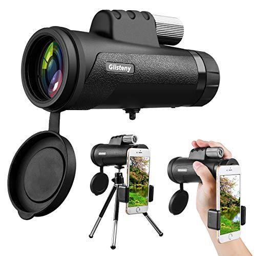 , GLISTENY Astronomisches Tragbares Spektiv HD mit Dual-Fokus niedrige Nachtsicht, Wasserdicht, geeignet für Anfänger und Kinder Vogelbeobachtung/WandernKonzert/Reisen/Outdoor ()
