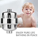 Kimitech Shower Filter| High Output Universal Water Purifier with Replaceable 15-Stage Water Filter Cartridge - Chrome