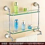 QAZ Handtuchhalter Bad Einzelzimmer Doppelzimmer Glaswand Double-Pole Handtuch Rack