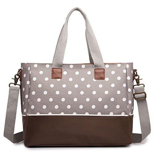 Preisvergleich Produktbild Miss Lulu Baby diapper Handtaschen Wickeltasche Polka Dot Mummy Baby Rucksack/Tote/Cross Body Taschen