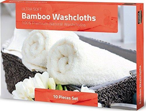 * Salviette di bambù per bambini –  Asciugamani morbidi e altamente assorbenti di qualità Premium per pelli sensibili – Salviette per neonati lavabili -ottimo regalo (10 pacco, 25 x 25 cm) di Utopia Towels confronta il prezzo online