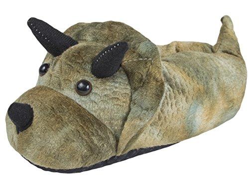 SlumberzzZ Boys Monster Design Fluffy Slipper with Elasticated Heel FT0806