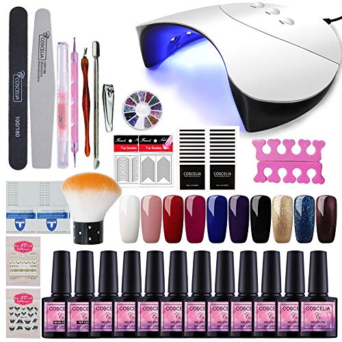 Saint-Acior Kit 10pc Smalto Semipermanente per unghie 36W USB Lampada UV LED Bianca Manicure Nail Art - 51zVwQ5nWtL