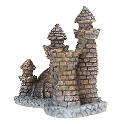 Rcool Home Aquarium Fish Tank Ornament Cartoon Resin Castle Tower Landscape Underwater Decoration(12 * 10 * 6 cm) 3