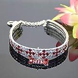 CWQYD Hundegeschirr Voller Strass Kragen Haustier Kristall Diamant Hundehalsband Halskette Leinen Tierbedarf, 4, L