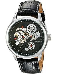 Akribos AK538BK - Reloj de cuarzo para hombres, color negro