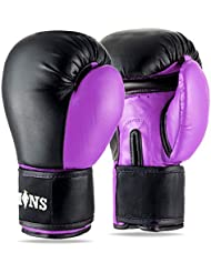 Lions Womens Boxing Gloves - Martial Arts Sparring Punch Bag Training Mitts