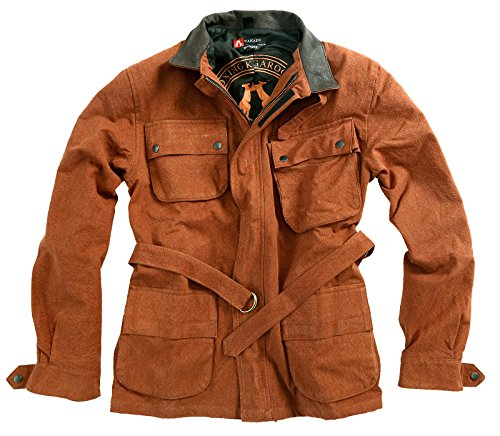 Kakadu Traders Mudgee Outdoor Herrenjacke aus robustem Canvas Brick