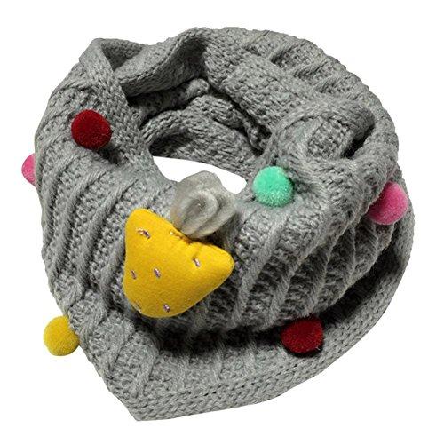 KanLin Baby Scarves Autumn Winter Boys Girls kids Cute Scarf Cotton O Ring Scarf (Gray)