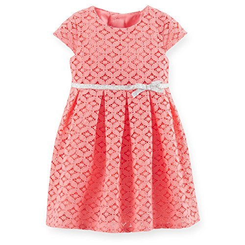 Carter's Embroidered Dress w/ Diaper Cover (Baby) - Pink-3 Months