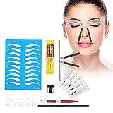 Tatuaje Ceja Kit 3D de Práctico Maquillaje Permanente sistema de la herramienta del tatuaje práctica del pigmento para principiante