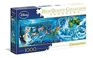 Clementoni 39448 - Disney Panorama Collection Peter Pan Puzzle Night Flights, 1000 Unidades