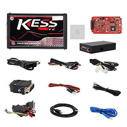 8Eninine Red Car Kess V2.47 V5.017 Steuergerät-Tuning Komplettpaket Eu Master Online No Token Limit Schwarz -
