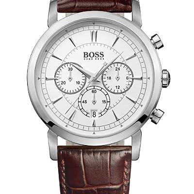 Hugo Boss 1512871 - Reloj cronógrafo de cuarzo para hombre con correa de piel, color marrón de Hugo Boss