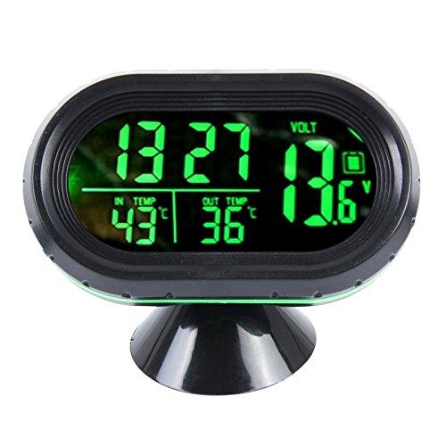 Wewoo vst-7009V 4in 1Digital Auto Thermometer Spannung Meter Beleuchtet Wanduhr Tester Bewegungsmelder LCD Monitor Rückkehr Licht
