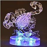 3D Crystal Puzzle 12 montierte Konstellationen basteln puzzle Spielzeug LED Licht (Skorpion)