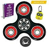 Primo agitano: Spin ansia Attenzione Toy giocattolo con eBook bonus incluso (Inglese)- perfetto per aggiungere, ADHD allevia lo stress, autismo e ansia e Relax per bambini e adulti