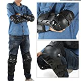 GES 4Pcs Motorcycle Knee Elbow Protector Motocross Racing Knee Shin Guard Pads Protective Gear for Adults (Black) Bild 9