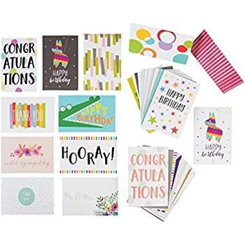 48 Small Foil-Stamped Cards with 6 Different Welcome Designs and 50 White Envelopes Blank Inside for Handwritten Pocket PraiseHello Awesome Employee Recognition and Appreciation Note Card Set