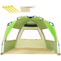 ZOMAKE Tienda de Playa Tienda fácil de Instalar para 2-3 Personas con protección UV(Verde)